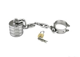 $enCountryForm.capitalKeyWord Australia - Stainless Steel Cock Ball Ring Pendant Weight Bdsm Bondage Gear Torture Male Chastity Device Fetish Adult Sex Products XCXA093