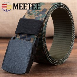 Plastic Belt Men Canada - Canvas belt men canvas belt outdoor leisure nylon plastic buckle security anti-metal allergy belt