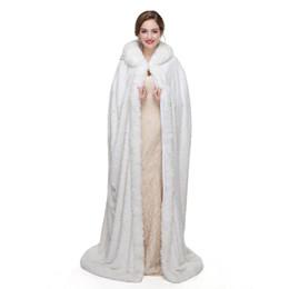 $enCountryForm.capitalKeyWord UK - Top Quality Ivory Bridal Boleros Wedding Accessories Bridal Wraps Long Ivory Boleros Faux Fox Fur Winter New Arrival 2018 Fast Shipping