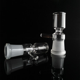 Female Tobacco Bong Bowl NZ - 2018 Smoking Glass Bow Tobacco And Herb Dry Bowl Slide For Glass Bong And Pipes 14mm 18mm Female Joint Bowl With Handle Sold