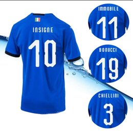 883b5b78d Quality AAA+ 2018 world cup Italy blue Soccer Jersey BONUCCI Italy home soccer  shirt BUFFON CHIELLIN DE ROSSI Football uniforms