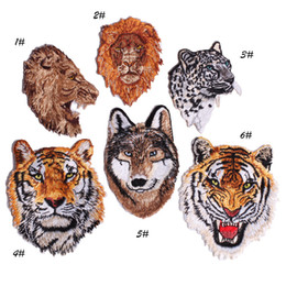 Wholesale iron patches for shirts for sale - Group buy Embroidered small and big Tiger Patch Iron Sewing Applique Patches Shirt Bag Jacket Badges for Clothing Animal Patch