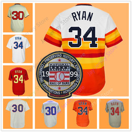 Button downs online shopping - Nolan Ryan Jersey With Hall Of Fame Patch Pullover Button Down Rainbow White Pinstripe Orange Grey Gold Navy Houston Texas New York