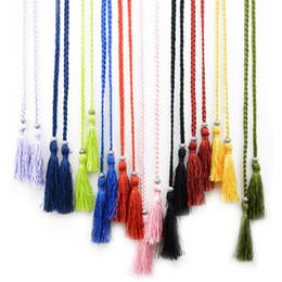 $enCountryForm.capitalKeyWord Canada - Colorful Narrow Waist Chain Fashion Multi Colors Women Straps Woven Tassel Design Belts Hot Sale 2 2hq B