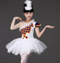 ballerina tutu kids UK - Professional White Swan Lake Ballet Tutu Costume Girls Children Ballerina Dress Kids Ballet Dress Dancewear Dance Dress For Girls 002