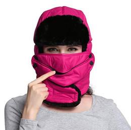 Russian Bomber Hats Women Men Winter Windproof Ski Hat With Ear Flaps And  Mask Neck Warm Hats Trooper Trapper Cap Hunting Cap 8b2bca11f25d