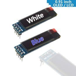 display arduino 2019 - 0.91 Inch 128x32 IIC I2C White   Blue OLED LCD Display DIY Module SSD1306 Driver IC DC 3.3V 5V for arduino