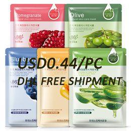 Wholesale BIOAQUA Moisturizer oil control Blackhead remover FACE Mask facial Blueberry Aloe Olive Honey Pomegranate Cucumber Plant Face Mask Skin Care