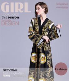 Beauty Elegant Palace Royal Style Long Dresses,Sexy V Neck,Loose Waist,Nice Sashes,Flare Length Sleeve on Sale