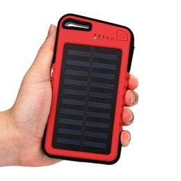 solar external battery power bank NZ - 20000 mah Dual-USB Waterproof Solar Power Bank Battery Charger For Cell Phone portable charging for phone poverbank External