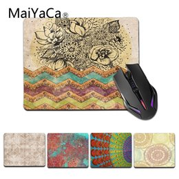 Wholesale MaiYaCa Vintage Bohemian Gamer Speed Mice Retail Small Rubber Mousepad Size for X29cm Rubber Mousepads