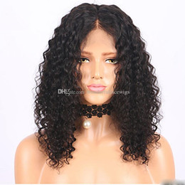 China cheap Hot sales synthetic Afro kinky curly lace front wig heat resistant sexy natural black short hair cut women wigs in stock cheap afro kinky lace wigs suppliers