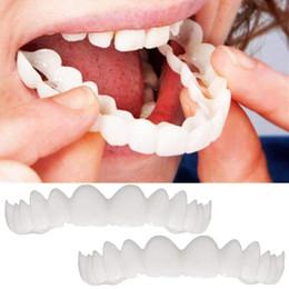 Высокое качество 1 пара=2 шт. зубные брекеты протезы мгновенный улыбка брекеты с коробкой зубная паста силиконовые зубы брекеты dropshipping