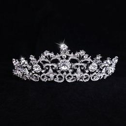 Chinese  Bridal headwear best selling European crown alloy diamond drill accessories manufacturers