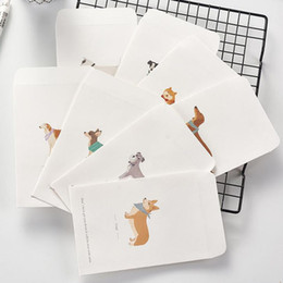 Discount schnauzer gifts - 5 Pcs Kawaii Animal Shiba Schnauzer Kolkie Dog Novelty Envelope Letter Paper Message Card Letter Stationary Storage Pape