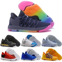 online store eae66 a271d Drop Shipping Großhandel Basketball Schuhe Männer Günstige Durant 10 X  Turnschuhe Hohe Qualität 2017 Neue Original KD10 Sportschuhe Für Verkauf  Größe 7-12
