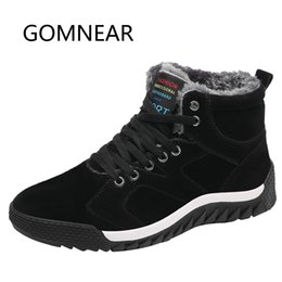 $enCountryForm.capitalKeyWord Australia - GOMNEAR Hiking Shoes With Fur Winter Sneakers For Men Outdoor Anti-skid Tourism Hiking Camping Sneakers Tactical Hunting Boots