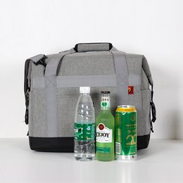 Picnic Ice Packs Australia - Oxford Cloth 37*22*28cm Large Ice Cooler Bags Insulated Pack Drink Thermal Leisure Handbag shoulder Picnic Pouch Lunch bag