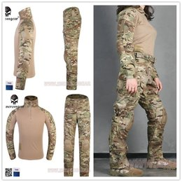 Chinese  Emersongear Tactical Woman G3 Combat uniform pants&shirt Multicam Camouflage hunting Ghillie Suits clothes manufacturers