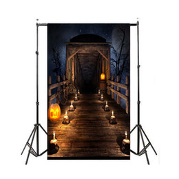 Halloween pHotograpHy backdrops online shopping - MINIFOCUS X7FT Halloween Night Pumpkin Pictorial cloth Backdrop photography Background studio prop for Christmas
