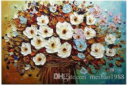 Bar Paintings Australia - Home living room decoration paintingCoffee bar Art Flower Handpainted Oil Painting On Canvas Modern Picture Palette Knife Painting Canvas wa
