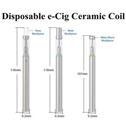 Disposable electronic cigarette cartriDges online shopping - 150 Puffs Disposable E cigarettes BUD D1 Ceramic Coil ohm Atomizer mAh LED Battery Glass Cartridge Huge Vape Vaporizer Electronic