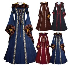 Fancy dress style online shopping - Women Preppy Style Dress Queen Renaissance Costume Medieval Maiden Fancy Cosplay Floor Length Adult dress KKA5898