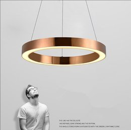 Modern Nordic Rose Gold Restaurant LED Pendant Lights Circle Ring Suspension Luminaire Dining Room Lights LLFA & Rose Gold Pendant Light Suppliers | Best Rose Gold Pendant Light ... azcodes.com