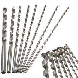 $enCountryForm.capitalKeyWord Australia - 1pc 4-10mm HSS Twist Drill Bit Extra Long 200mm Straight Shank Drill Bit For Metal Plastic Power Tool
