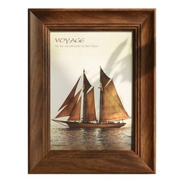 homes decorations photos NZ - Vintage Design Photo Frame For Wall Hanging and Table 1 Piece Picture Frames Desktop For Home Desk Decoration marcos de foto 2018 New