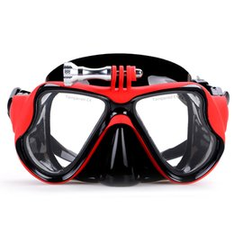 Hd dive mask camera online shopping - Scuba Diving Mask With Gopro Mount Tempered Glasses For Gopro Hero Hd Sj4000 Sj5000 Camera Go Pro