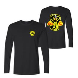 $enCountryForm.capitalKeyWord UK - Cobra Kai T shirts Men Fashion Hot Sale Print T-shirt Lovely long sleeve Tee Shirts Mens Warm Autumn Tops and Tee
