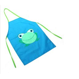 Wholesale Child Kids Waterproof Household Cartoon Bib Kitchen Animals Painting Craft Apron