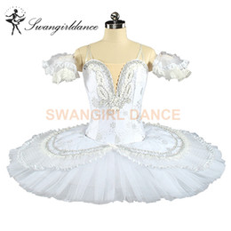 Queen Stage Costumes NZ - White Snow Queen Platter Costume Women Nutcracker Professional Tutus White Swan Sleeping Beauty Ballet Stage Ballerina Tutu BT9143B