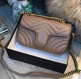Moda di lusso di alta qualità Amore cuore V Wave Pattern Satchel Designer tracolla catena borsa Crossbody borsa Lady Shopping Tote bags
