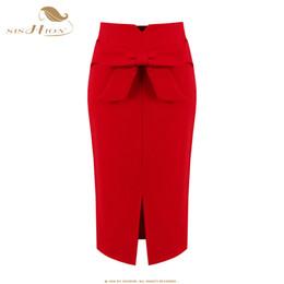 e4af67da95ef4 SISHION юбки женские faldas дамы карандаш мода S - 5XL плюс размер офис  старинные сексуальные повязки красный черный юбка VD0408