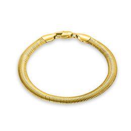 $enCountryForm.capitalKeyWord UK - wholesale silver   gold color 6mm wide flat snake chain bracelet 20cm long for men,fashion men's bracelet jewelry