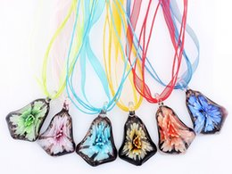 small pendants NZ - QianBei Wholesale 6pcs lot Multicolor small bell Glass Pendant necklaces Jewelry Accessory handmade Craft Jewelry 0016