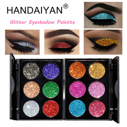 Wholesale HANDAIYAN Professional Glitter Eyeshadow Palette Cosmetic Waterproof Shimmer Eye Shadow Beauty Make Up Gift for Women Maquiagem