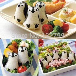 Sushi Cutter Australia - Sandwich Rice Mold Penguin Shape Roll Cookies Bento Biscuit Cutter Sushi Nori Punch Pad DIY Tool Mould