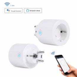 Power Wireless Remote Control Switch Socket Australia - EU Smart Wifi Plug WiFi Power Socket Wireless Remote Control Outlet Wall Smart Socket Power Switch Works with Alexa