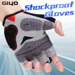 Gloves bicycle black online shopping - GIYO Cycling Gloves Half Finger Bicycle Gloves Shockproof Breathable MTB Mountain Bike Gloves Men Sports Racing Riding Glove S01