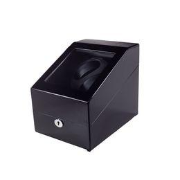 Discount wood box watch case - Watch Winder ,LT Wooden Automatic Rotation 2+3 Watch Winder Storage Case Display Box(BB)