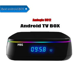Tv Androids Octa Core Canada - Original M9S MIX Android TV BOX S912 Octa-core cortex-A53 2G 16G Android 6.0 2.4G 5G Dual-band WiFi Bluetooth smart Media Player