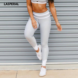 woman white yoga pants 2019 - LASPERAL Fitness Women Yoga Tights Solid Patchwork High Waist High Elastic Sports Legging Athleisure Sportswear Gym Runn