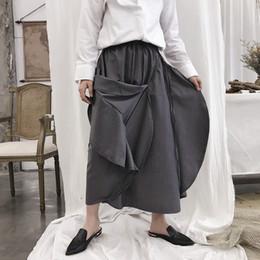Los hombres de la moda informal suelta Harem Pant Muchos usan métodos masculinos  Kimono Pantalones anchos de la pierna del estilo de Japón Pantalones de la  ... c4924faae60