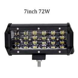 Light Front For Car Australia - ECAHAYAKU 2PCS 7INCH 72W CAR LED LIGHT BAR OFF ROAD SUV 4X4 WORK LIGHT LAMP FOR CAR TRACTOR BOAT MILITARY EQUIPMENT 12V 24V