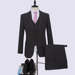$enCountryForm.capitalKeyWord UK - Black Wedding suit 2 buttons Groom Tuxedos Harringbone Blazer for Groomsman Suit Tailor Man Suit(Jacket+pants +vest)