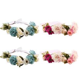 Chinese  Headband Flower Crown Match Garland Hair Band Accessories for Mom anad Kids Flower Headband Newborn Baby manufacturers