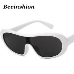 58d6ede0ba2d Trendy 2019 Korean Cool Oval One Piece Sunglasses Women Men Brand Design  Arc Frame Driver Goggles Sun Glasses Vintage Lunettes